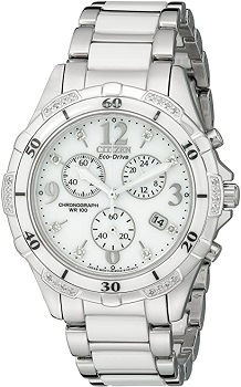 Citizen Women's Eco-Drive Chronograph Watch with Diamond Accents