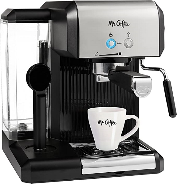 Mr. Coffee Cafe Steam Automatic Espresso and Cappuccino Machine