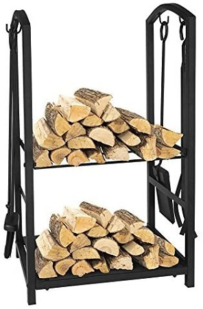 Art to Real Firewood Rack and Fire Tools Set