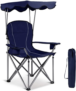GYMAX Canopy Camping Chair